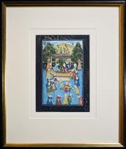 Sale 8325A - Lot 73 - Artist Unknown (Indo-Persian School) (5 works) - Court Scenes 31 x 20cm, each