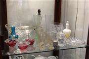 Sale 8340 - Lot 82 - Crystal Boudoir Lamp Base with Other Glass & Crystal Wares