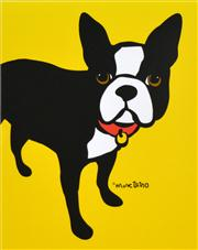Sale 8592A - Lot 5068 - Marc Tetro - Boston Terrier 48 x 40cm (frame size: 67 x 56cm)