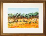 Sale 8440A - Lot 83 - Ted Hutchinson - Trees and Clay 36 x 65cm