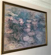 Sale 8774A - Lot 375 - A print of Claude Monets waterlillies in a gilt frame, frame size 98cm x 127cm