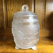 Sale 8795K - Lot 97 - A crystal lidded biscuit barrel