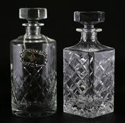 Sale 9003G - Lot 654 - Bohemia crystal decanter together with another with an Australian silverplated spirit label