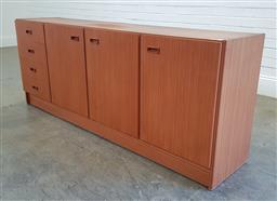 Sale 9188 - Lot 1090 - Vintage Chiswell sideboard with four drawers & three doors (h:71 x w:183 x d:41cm)