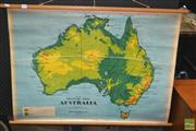 Sale 8275 - Lot 1008 - Chas H Scally Vintage School Map of Australia