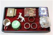 Sale 8362 - Lot 267 - English Hallmarked Sterling Silver Christening Mug with Other Wares Incl. Cloisonne Picture Frames