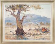 Sale 8434 - Lot 514 - Robert Wilson (1942 - ) - A Great Gum in the Capertee Valley NSW, 1981 69.5 x 90cm