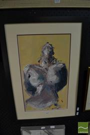 Sale 8471 - Lot 2027 - Vicki Wright (XX)  Abandon, oil on canvas board, 47 x 28cm, signed lower right