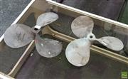 Sale 8585 - Lot 1034 - Vintage Brass Propellers x 2