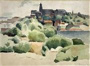 Sale 8607A - Lot 5005 - Roland Wakelin (1887 - 1971) - Across the Bay, 1932 23.5 x 31.5cm