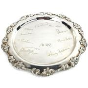Sale 8699A - Lot 732 - Silver Plated Ceremonial Salvers, inscribed (4), diameter of largest 46cm