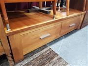 Sale 8745 - Lot 1082 - Large Modern Coffee Table with Drawers
