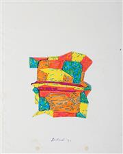 Sale 8991A - Lot 5042 - Lyndon Dadswell (1908-1986) (2 works) - Studies for Sculpture no.381 & no.382, 1977 25.5 x 20 cm, each