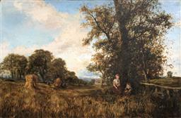 Sale 9123J - Lot 178 - George Boyle (British 1826-1899) Surry Countryside Oil on canvas Height 50cm x Width 76cm Framed Size: Height cm x Width cm