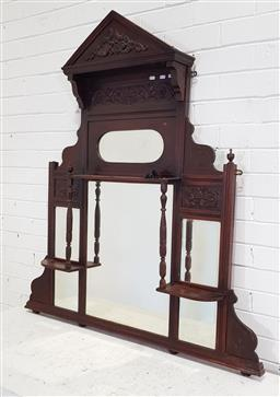 Sale 9174 - Lot 1070 - Mantle hanging wall mirror (130 x 120cm)