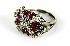 Sale 3808 - Lot 432 - A DIAMOND AND SYNTHETIC RUBY COCKTAIL RING;