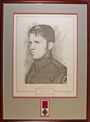 Sale 7978 - Lot 100 - Edward Kenna V. C. Framed Limited Edition Print