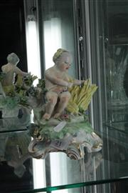 Sale 8024 - Lot 21 - Chelsea Style Figure Representing Summer
