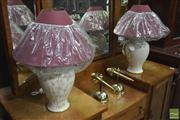 Sale 8277 - Lot 1011 - Pair of Hand made Italian Lamps, 1975 (2655)