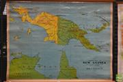 Sale 8275 - Lot 1027 - Chas H Scally Vintage School Map of New Guinea