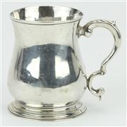 Sale 8372 - Lot 46 - English Hallmarked Sterling Silver George V Christening Mug