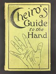 Sale 8539M - Lot 24 - Cheiro (William John Warner), Cheiros Guide to the Hand, London: Herbert Jenkins, popular edition. Inscribed H. A. Hackett and...