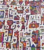 Sale 8738 - Lot 535 - Peter Ferguson (1956 - ) - A Day at the Zoo 105 x 92.5cm