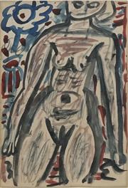 Sale 8708A - Lot 527 - Tony Tuckson (	1921 - 1973) - Untitled (Nude), c1950 - 1953 27 x 19cm