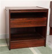 Sale 8774A - Lot 379 - Two rosewood effect bedsides with single drawer and brushing slide, H x 57cm, W x 55cm, D x 41.5cm