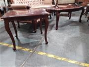 Sale 8744 - Lot 1051 - Pair of Timber Side Tables Together with Matching Coffee Table (3)
