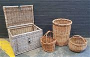 Sale 9009 - Lot 1029 - Collection Of Cane Baskets