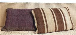 Sale 9123J - Lot 187 - Two throw cushions repurposed from Antique Kilim rugs, each with inserts and each approx 70 x 50cm