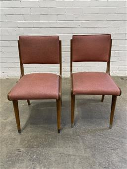 Sale 9134 - Lot 1566 - Pair of vintage timber frame dining chairs (h92 x w43 x d55cm)