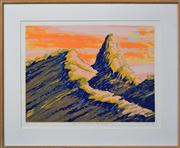 Sale 8068A - Lot 100 - John Douglas Millington (1942 -) - Pages Pinnacle, Numibah Valley, Queensland - No.1 63.5 x 49.5cm