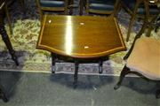 Sale 8093 - Lot 1836 - Late Victorian Mahogany & Satinwood Banded Sutherland Table, with square supports