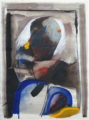 Sale 8410A - Lot 5014 - Anne Hall (1945 - ) - Untitled (Figure with White Hair) 76.5 x 56cm (sheet size)