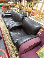 Sale 8469 - Lot 1073 - Modern Upholstered Armchair & Two Seater Sofa