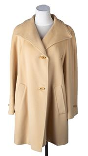 Sale 8550F - Lot 37 - A Max Mara, Italy, 100% wool camel oversized swing coat, with toggle clasps, size M.