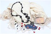Sale 8694 - Lot 416 - Vintage Shawl Together With Costume Jewellery