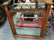 Sale 8817 - Lot 1062 - Pair of Timber and Metal Dresser Mirrors