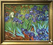 Sale 8811 - Lot 2001 - Artist Unknown - Garden Iris (After Van Gogh), acrylic on board, 62 x 72.5cm, unsigned