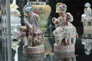 Sale 8024 - Lot 19 - Pair of C19th Jacob Petit Figures in the Meissen Style
