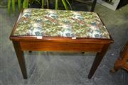 Sale 8093 - Lot 1348 - Australian Tapestry Top Piano Stool