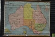 Sale 8275 - Lot 1034 - Bacons Excelsior Vintage School Map of Australia