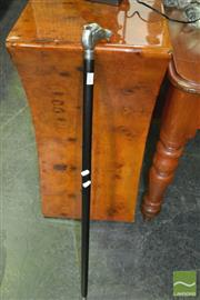 Sale 8386 - Lot 1022 - Walking Stick with Metal Horse Head Handle