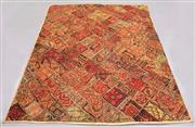 Sale 8438K - Lot 144 - Traditional Rajasthan Patch Throw | 234x193cm, Silk Sari Patch  & Cotton Backing, Hand-stitched in Rajasthan, India using upcycled v...