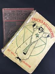 Sale 8539M - Lot 26 - Will Goldston, Tricks & Illusions for Amateur and Professional Conjurers. London: Routledge. 8th edn. Hardcover in yellow with ill...