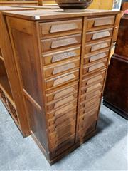 Sale 8765 - Lot 1027 - Maple 26 Drawer Document Chest