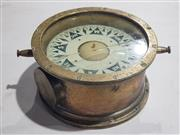 Sale 8976N - Lot 305 - Brass cased Ships Compass by Card Suunto of Finland, Housing missing (h:124 x d:235mm)