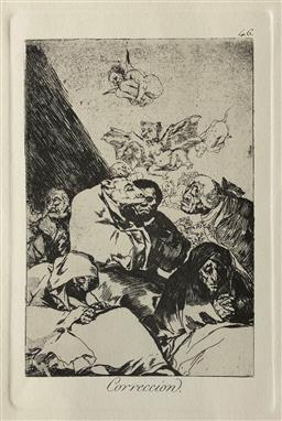 Sale 9123J - Lot 248 - Francisco Goya (Spanish 1746- 1828) Correccion 1797-98 (Restrike etching) Etching and burnished aquatint on paper Height 22.5cm x Wi...